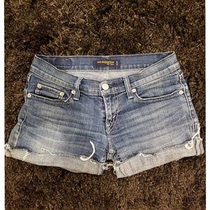 Levi's Cut Off Low Rise Jean Shorts